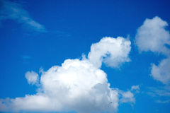 Blue sky with white. Clouds Royalty Free Stock Photo