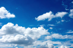 Blue sky. With white clouds Stock Image