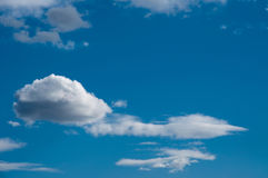 Blue sky and white clouds. The blue sky with white clouds Stock Photos