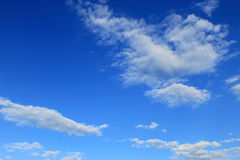 Blue sky. White clouds in the blue sky royalty free stock photography