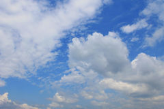 Blue sky. White clouds in the blue sky royalty free stock photo