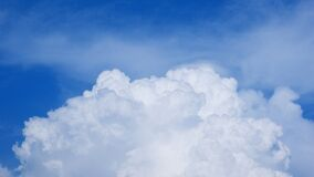 Blue Sky and White Clouds Stock Images