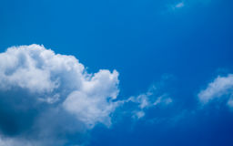 The blue sky and white clouds. Blue sky and white clouds Royalty Free Stock Photography