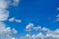 Blue sky. Blue sky with white clouds Stock Image