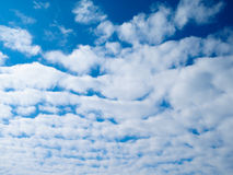 Blue sky with white clouds in the afternoon Stock Photography