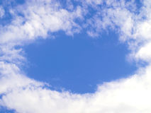 Blue sky and white clouds Stock Image