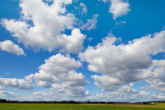 Blue sky with white clouds as background Royalty Free Stock Image