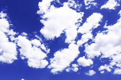 Blue sky white cloud. Blue sky as background, the white clouds as prospects, both formed sharp contrast Royalty Free Stock Photo