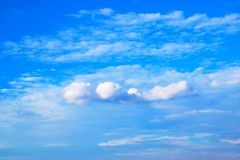 Blue sky white clouds background 171019 0230 Stock Images