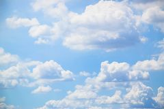 Blue sky and white clouds background 180927 0013 royalty free stock photos