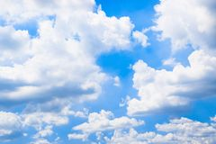 Blue sky with white clouds background 180927 0014 stock photos