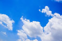 Blue sky and White Clouds Background 180930 royalty free stock images