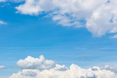 Blue sky with white clouds background royalty free stock images