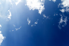 Blue sky. White clouds in a blue sky. Sky background Stock Photo
