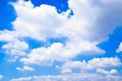 Blue sky with White Clouds Background 1 royalty free stock photography