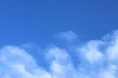 Blue sky and white clouds background. White fluffy clouds Stock Photography
