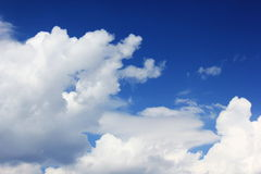 Blue sky with white clouds. Blue sky background with white clouds outdoor Royalty Free Stock Image
