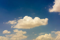 Blue sky and white clouds. Beautiful clouds in the blue sky Royalty Free Stock Images