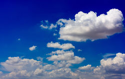Blue sky and white clouds. Beautiful clouds in the blue sky Royalty Free Stock Photography