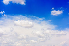 Blue sky and white clouds. Beautiful clouds in the blue sky Stock Photography