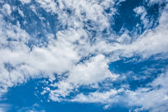 Blue sky and white clouds, blue skies Stock Photo