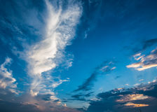 Blue sky and white clouds, blue skies Royalty Free Stock Image