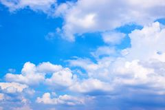 Blue sky with white clouds 171018 0178 royalty free stock images