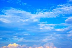 Blue sky and white clouds 171019 0241 stock images