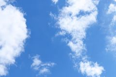 Blue sky with white clouds.  Royalty Free Stock Image