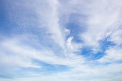 Blue Sky and white clouds. Background Stock Image