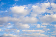 Blue sky white clouds blur. Blue sky white clouds day of good weather blur Stock Photography