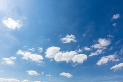 Blue sky with white clouds. Blue sky with bright white clouds at the day Royalty Free Stock Images