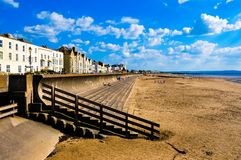 English Seaside, edit crop and saturation Royalty Free Stock Images