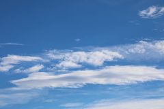 Blue sky and white clouds called stratocumulus. Background of sky and some white clouds called stratocumulus royalty free stock photo