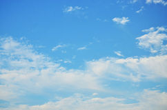 The blue sky and white clouds Stock Photography