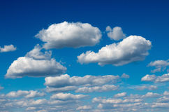 Blue sky with white clouds. Stock Images