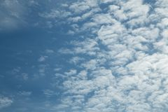 Cloudy sky royalty free stock photography