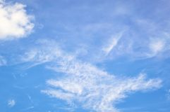 Blue sky with white clouds. Day, background royalty free stock photo