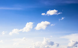 Blue sky and white clouds.On the day crystal clear sky Stock Image