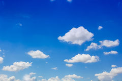 Blue sky and white clouds.On the day crystal clear sky Royalty Free Stock Photography