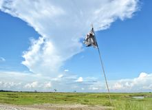 The blue sky with white clouds. Royalty Free Stock Photography