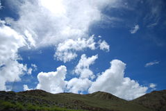The blue sky and white clouds. Blue sky, white clouds floating clouds Royalty Free Stock Photos