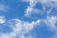 blue sky with white clouds formation background Stock Photo