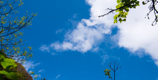Blue sky and white clouds-Lingshan Shangrao Stock Photos