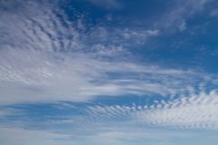 Blue sky with clouds. Blue sky with white clouds. Natural background image Stock Image