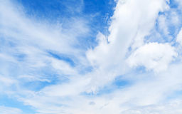 Blue sky and white clouds. Natural background Stock Image