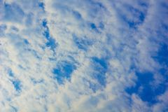 Blue sky with white clouds. Blue sky with white clouds, nature Stock Images