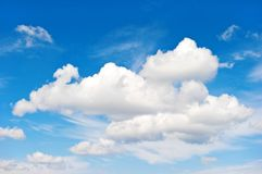 Blue sky white clouds Nature background. Blue sky with white clouds. Nature background Royalty Free Stock Image