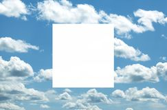 Blue sky with white clouds. Nature background royalty free stock images