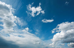 Blue sky and white clouds Royalty Free Stock Image
